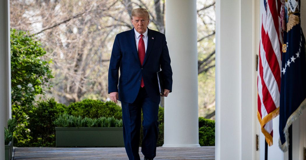 Trump Extends Social Distancing Tips By Finish of April