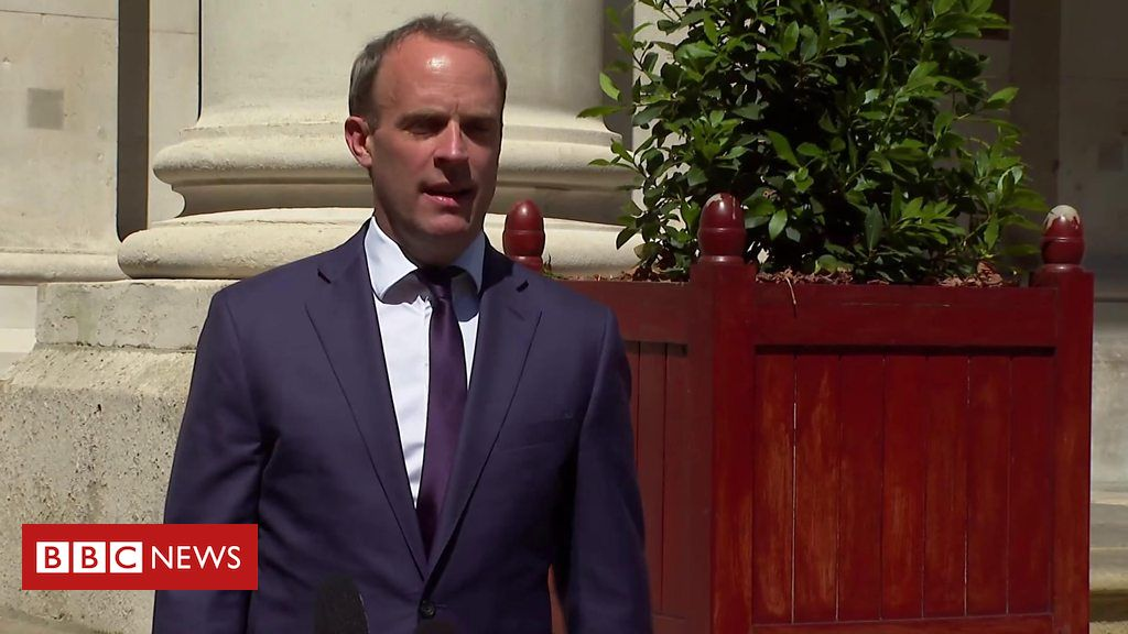 Dominic Raab 'deeply troubled' by China's actions