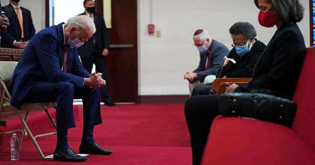 Joe Biden Listens to Anguish at a Black Church in Wilmington