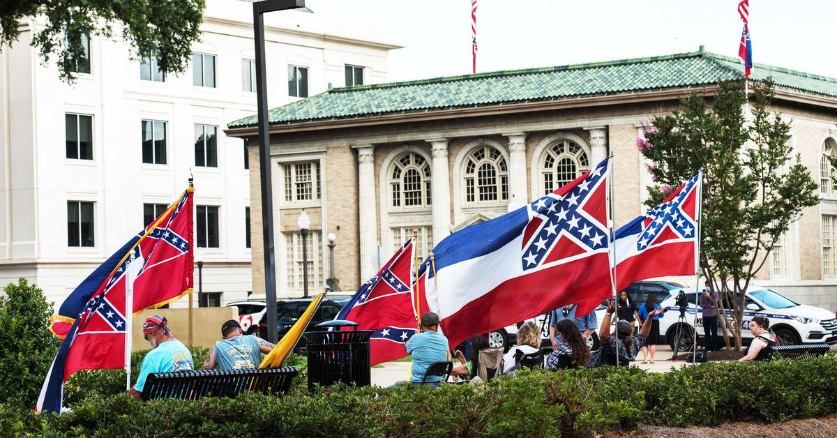 Mississippi's flag comes down after vote to take away Accomplice emblem