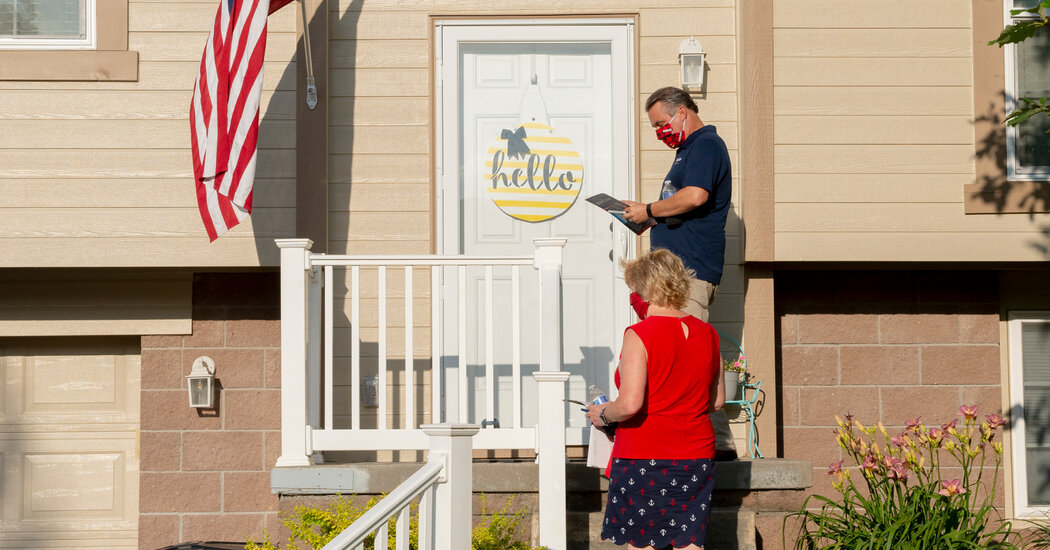 Alienated by Trump, Suburban Voters Bitter on G.O.P. in Battle for the Home