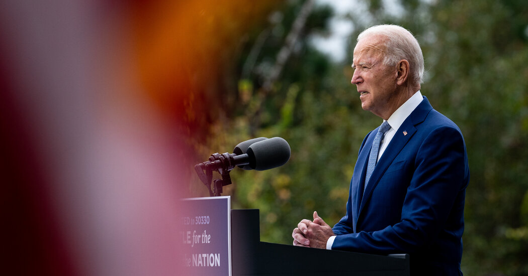 Biden Invokes F.D.R. to Attain Throughout Partisan Divide in Georgia