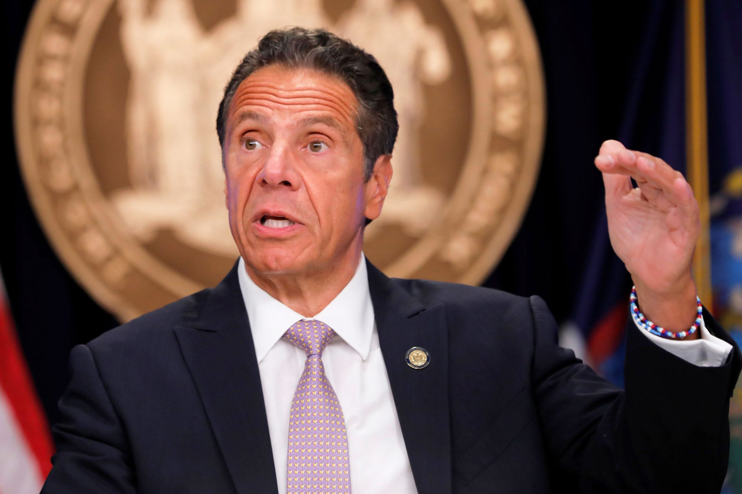 New York Gov. Cuomo says states want U.S. funds to distribute