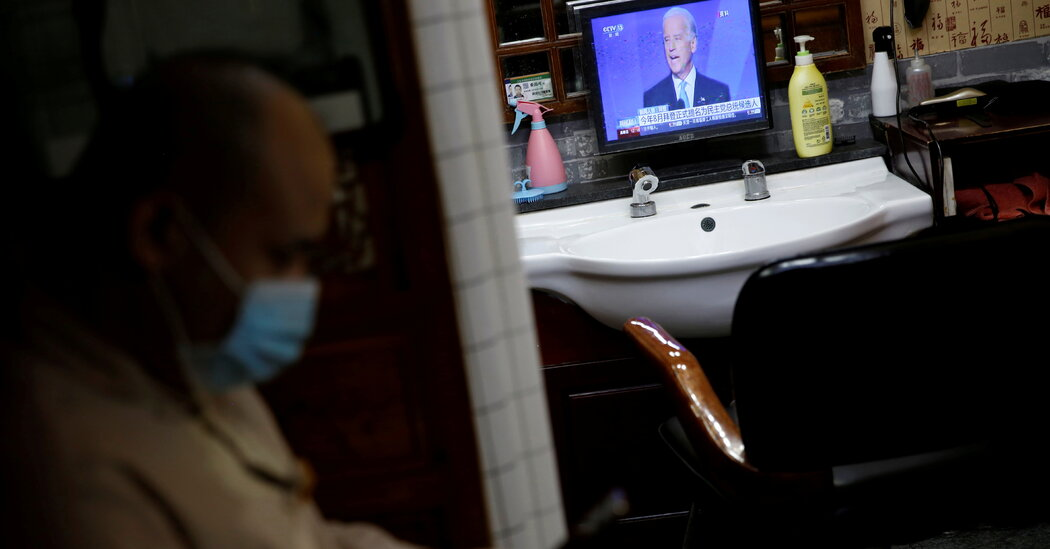 China's state-run information media reacts to Biden's victory with cautious optimism.