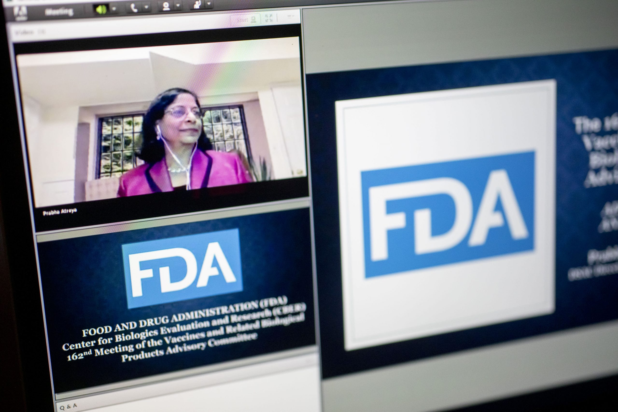 FDA advisory panel meets right now to vote on whether or not to advocate approval of Pfizer's Covid vaccine