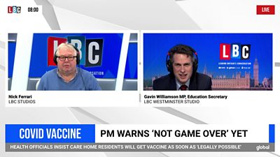 """Williamson: UK acquired vaccine first as a result of """"we're a a lot better nation"""""""