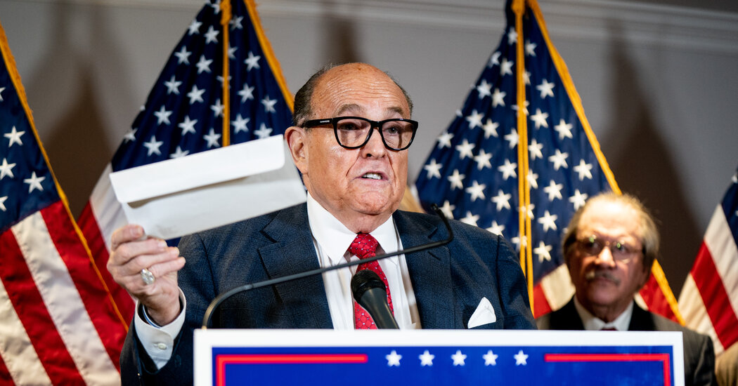 U.S. Imposes Sanctions on Ukrainians Linked to Giuliani for Election Disinformation