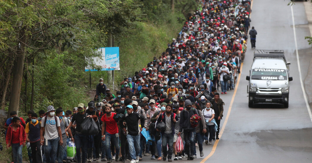 Migrant Caravan, Now in Guatemala, May Pose Early Take a look at for Biden