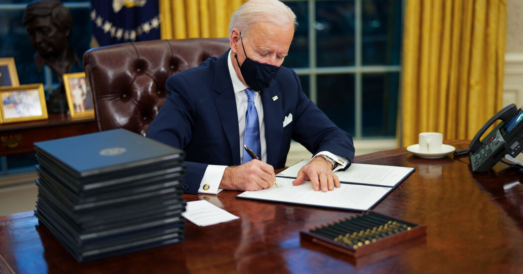 Biden is unveiling a federal pandemic response technique, which Trump resisted.
