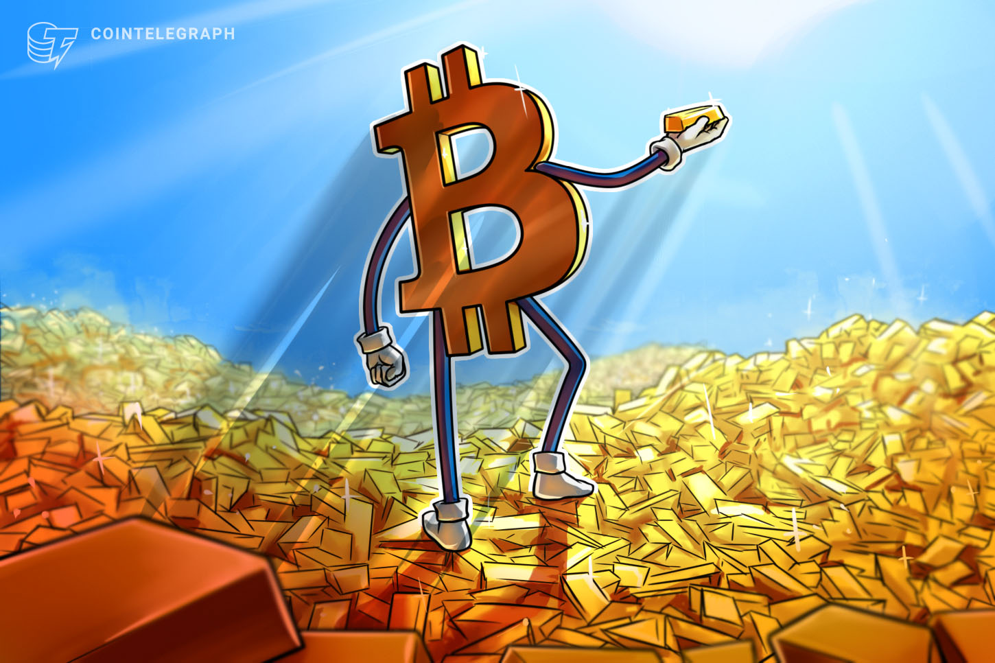 gold outflows are pushing Bitcoin increased