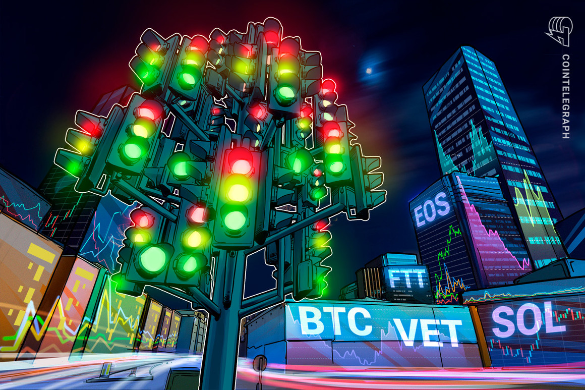 Prime 5 cryptocurrencies to observe this week: BTC, VET, SOL, EOS, FTT