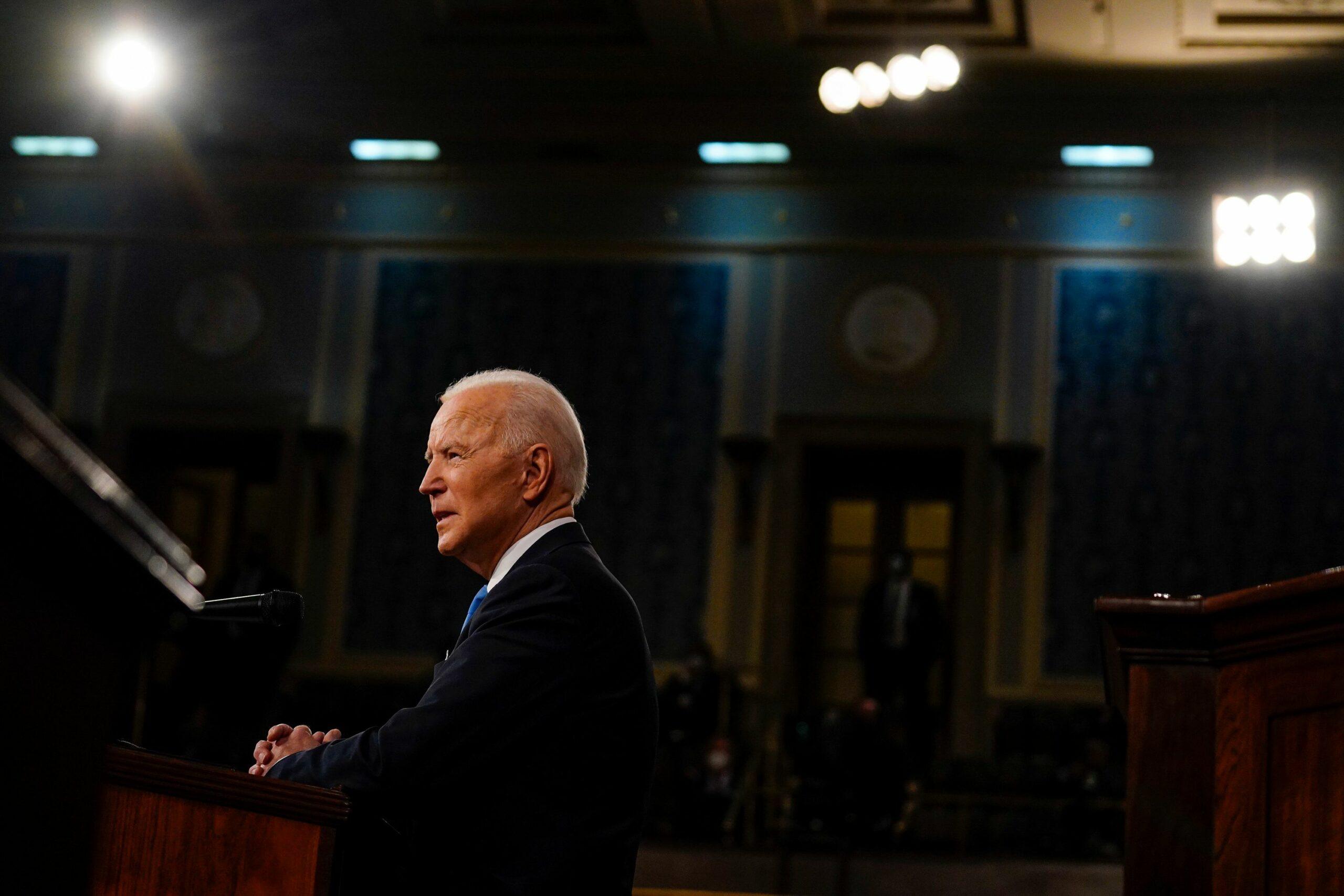 Opinion   Biden Tries a New Presidential Tone: Whispering