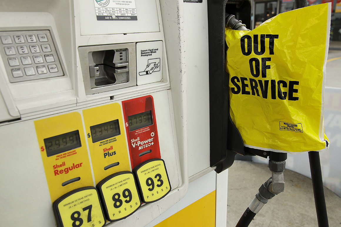 Panic shopping for drains Southeast gasoline stations, Biden widens efforts to ease shipments