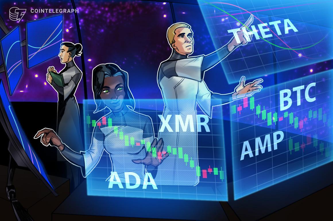 High 5 cryptocurrencies to observe this week: BTC, ADA, THETA, XMR, AMP