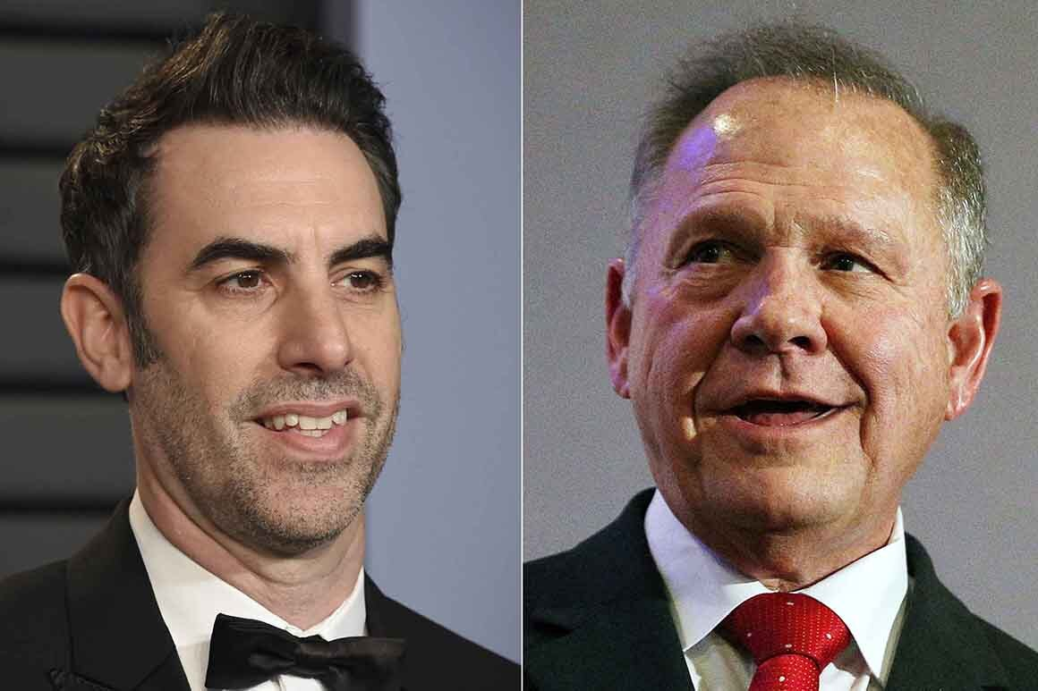 Decide throws out Roy Moore's $95 million swimsuit in opposition to Sacha Baron Cohen
