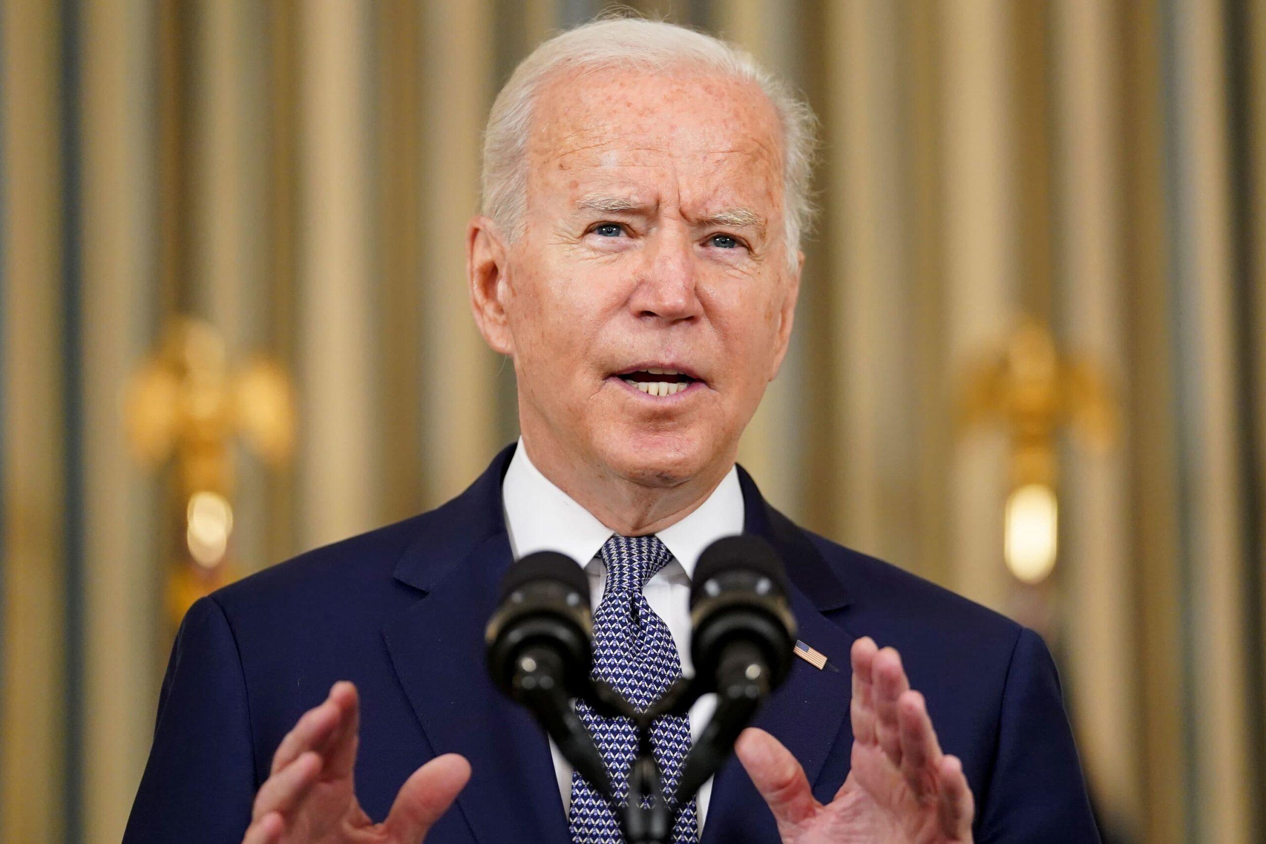 Biden blames delta variant, unvaccinated folks